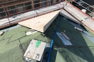 Montage der Betonfertigteil-Dachelemente