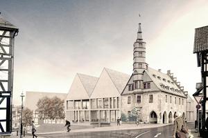 Im Sinne einer quartiersbezogenen Stadtreparatur wird das Zentrum Korbachs mit dem mittelalterlichen Rathaus aus dem Jahr 1377 und seinem historisch geprägten Umfeld neugestaltet