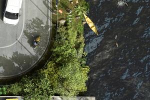 Den Fluss (Neckar) und seine Nebengewässer als verbindendes landschaftsräumliches Netz qualifizieren und die Zugänglichkeit verbessern