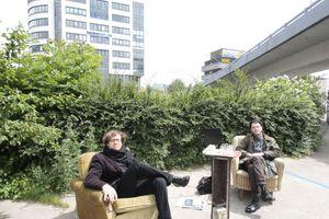 Den öffentlichen Stadtraum wieder belebbar machen sollte eine Antwort auf die Fragen sein, denen wir uns stellen müssen. Aktion im Rahmen des Konvents der Baukultur 2012 in Hamburg