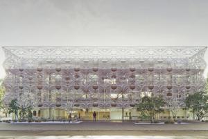 Das architektonische Konzept des Texoversum basiert auf der Auseinandersetzung mit dem Textilen Bauen