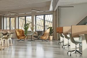 Für eine nachhaltige Umgestaltung der Arbeitsplätze wurden flexible einsetzbare Bauelemente gestaltet