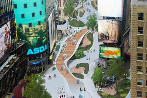 Attraktive Aufenthaltsqualität für die Bewohner und neue sanfte Mobilität – New Mobility Study Times Square