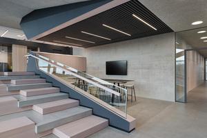 WDF 49, das Bürogebäude wird 2019 von SCOPE an SAP übergeben. Die Treppe als Ort der Begegnung und des Austauschs