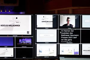 Aufnahmestudio im ICM München: Professioneller Hintergrund für die Aufzeichnung der Preisbekanntgabe