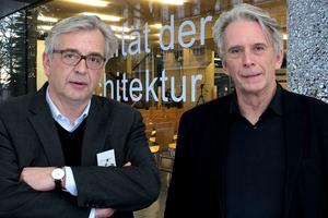 Väter und Kuratoren der Veranstaltung: Prof. Uwe Schröder und Prof. Schneider