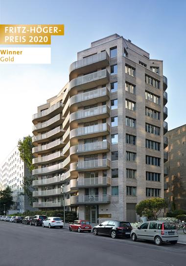Wohnhochhaus Singerstraße 33, Giorgio Gullotta Architekten, Winner Gold Wohnungsbau beim Fritz-Höger-Preis 2020 für Backstein-Architektur