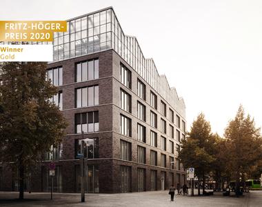 Gebäudeintegriertes Dachgewächshaus und Verwaltungsgebäude am Altmarkt in Oberhausen, KUEHN MALVEZZI Architects, Winner Gold Energie beim Fritz-Höger-Preis 2020 für Backstein-Architektur