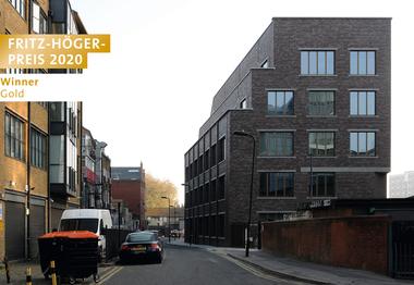 """""""Brickfield"""" Business Centre, Witherford Watson Mann Architects, Winner Gold Büro- und Gewerbebauten beim Fritz-Höger-Preis 2020 für Backstein-Architektur"""