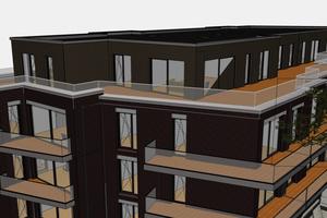 Baues Architekten haben für ein Mehrfamilienhaus (hier das Archicad Modell) einen Workaround entwickelt, der ermöglichte, das Archicad-Gebäudemodell über Allplan Engineering in SCIA Engineer zur Berechnung zu überführen. Mit dem neuen, ganzheitlichen Workflow lassen sich solch aufwendige Zwischenschritte zukünftig vermeiden