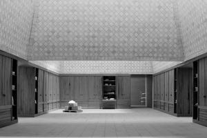 """NachwuchsgewinnerInnen: Franziska Käuferle und Sina Pauline Riedlinger, Berlin, mit ihrem Entwurf einer """"Fabrik für Keramik in der Oberhavel"""""""