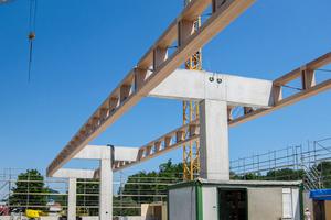 Nach den Betonarbeitenkonnte der Bau innerhalb von 14 Tagen fertig gestellt werden.