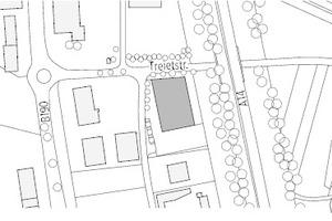 Lageplan, M 1:6000