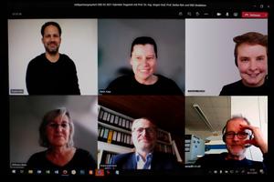 Virtuelles Heftpartnergespräch mit Stephan Birk (o.l.) und Jürgen Graf (u. Mitte)