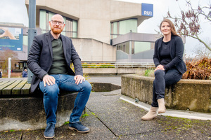Im Projekt kooperiert die Abteilung für Transfer und Entrepreneurship, hier Ulrike Beißert im Bild, mit dem Team um Markus König vom Lehrstuhl für Informatik im Bauwesen der Ruhr-Universität Bochum