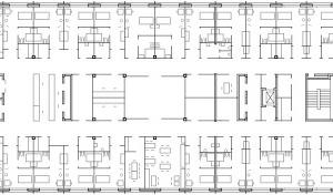Grundriss Neubau 2. Obergeschoss, M 1:1000