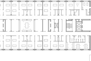 Grundriss Neubau 1. Obergeschoss, M 1:1000