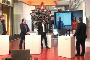 Lebhafte Diskussion in der Abschlussrunde mit den virtuellen Gästen aus den Niederlanden