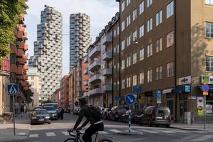Die Norra Tornen bilden den städtebaulichen Auftakt zum Stadtviertel Hagastaden im Norden von Stockholm