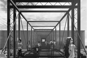 """""""Dock of Berlin"""", ein Sonderpreis, der 1. Diesing-Preis, gestiftet durch die Karl-Friedrich-Schinkel-Stiftung des AIV, ging an Johanna Kuder, Judith Blatter, Katharina Straub (HTWG Konstanz)"""