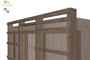 Die Fassadenstruktur des Wohnmoduls von Timber Homes: Gut zu erkennen ist, dass die Konstruktion im Archicad-Modell bis ins letzte Detail ausmodelliert wurde