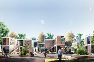 Ein Beispielprojekt des Neuen Bauhauses ist Beta Hood. Es bietet Lösungen für Obdach, Unterkunft und Micro-Living, die schnell, flexibel und weltweit einsetzbar sind