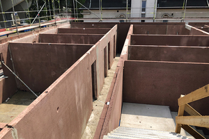 Vorkonfektionierte Keller Innen- und Außenwände durch Just-In-Time-Lieferung.<br />