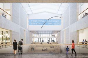 ... in der detaillierten Überarbeitung – weniger krass - finden sich Glaswände und neue Mauern