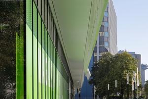 Im Erdgeschoss liegen Gemeinschafts- und Gewerbeflächen wie z.B. ein großer Bio-Supermarkt