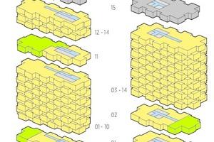 """<irspacing style=""""letter-spacing: -0.02em;"""">Geschossnutzung der Wohnhochhäuser """"Helix"""" und """"Innovationen"""", o. M.</irspacing>"""
