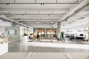 Multifunktionale Tische, die sich je nach Bedarf schnell auf- und abbauen lassen, ermöglichen die flexible Nutzung von gemeinsamen Büroflächen