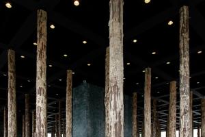 Sticks and Stones, 2014 noch eine Installation von Chipperfield Architekten in der Nationalgalerie, heute auch ein wertvoller Fichtenwald in Zeiten knapper werdender Holzressourcen