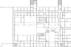Grundriss Obergeschoss, M 1 : 1000
