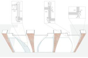 Darstellung verschiedener Verbindungstypen zwischen rostfreiem Stahl und Glas sowie Glas und Glas
