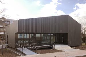 """Der """"Green Campus"""" am Standort Leipziger Straße in elementierter Holzbauweise"""