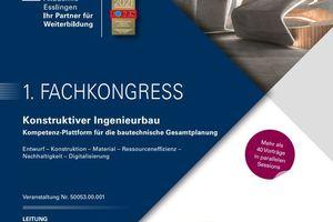 Fachkongress Konstruktiver Ingenieurbau am 28. und 29. September 2021 in Ostfildern