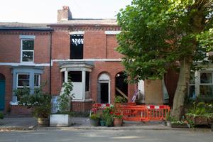 Sanierungsphase der Häuser Nr. 37 und 39