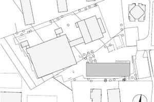 Lageplan Standort 1, M 1:3000