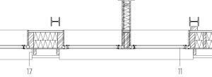 Aufstockung Horizontalschnitt, M 1:100