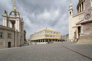 Abriss des Störfaktors Bibliothek der FH am Alten Markt, ehemals Institut für Lehrerbildung, 2018