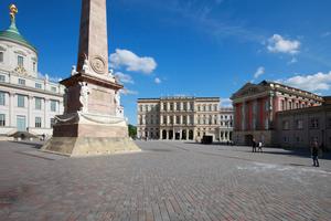 Wiederaufbau des Palast Barberini (Bildmitte, Architekt des Originals war Carl von Gontards, Neubau kommt von Hilmer & Sattler und Albrecht)