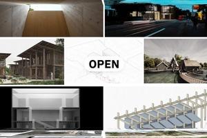 Die Webseite präsentiert verschiedene Arbeiten von StudentInnen der Fakultät für Architektur des KIT
