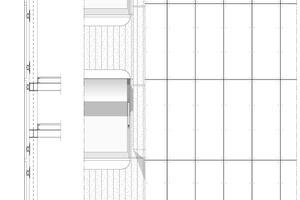 Detailschnitt Fassade, M 1:75
