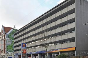 Vor dem Umbau: Das Gebäude aus den 1960er-Jahren entsprach der Ästhetik seiner Zeit. Der Anlass für die neue Fassade waren aber keine gestalterischen, sondern witterungsbedingte Gründe