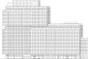 Fassade Nord, M 1:1000