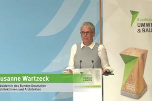 """Susanne Wartzeck, Präsidentin des Bundes Deutscher Architektinnen und Architekten, fordert: """"Wir müssen in Lebenszyklen denken und die gesamte Kette betrachten. Vielleicht brauchen wir ein Bundesministerium für Umbauten."""""""