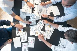 Analoges Herzstück des Architectural Programmings: Auf Karten werden während des Prozesses die Ideen und Bedürfnisse der künftigen NutzerInnen visualisiert
