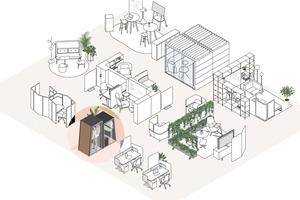 Variables Platzangebot: Rückzugsräume (Fokus) sind in modernen Bürokonzepten ebenso wichtig wie Besprechungsräume und Gruppen- sowie Einzelarbeitsplätze