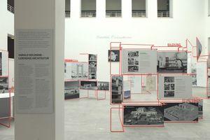 Ausstellungsansicht, Innenhof Baukunstarchiv