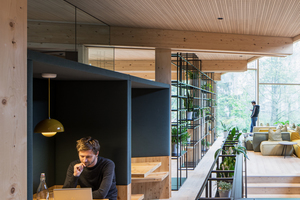 Vielfältige Rückzugsorte für schnelle informelle Meetings